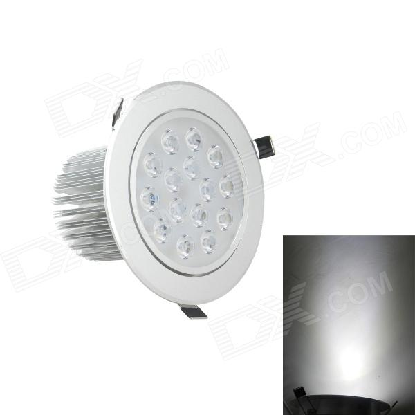 15W 1300lm 6000K 15-LED White Light Ceiling Down Lamp / Ceiling Spotlight - Silver (AC 85~265V) r7s 15w 5050 smd led white light spotlight project lamp ac 85 265v