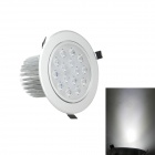 15W 1300lm 6000K 15-LED White Light Ceiling Down Lamp / Ceiling Spotlight - Silver (AC 85~265V)