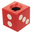 Anya D406 Creative Dice Style Decorative Plastic Ashtray - Red + White