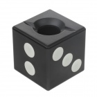 Anya D406 Creative Dice Style Decorative Plastic Ashtray - Black + White