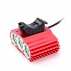 ZHISHUNJIA 2200lm 4-Mode White Bicycle Light w/ Taillight - Black (4 x 18650)