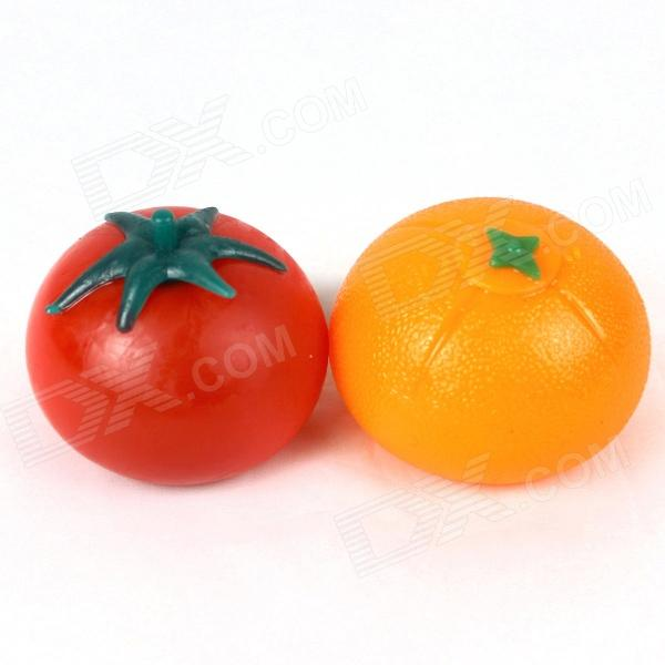 Orange + Tomato Style Vent Toy - Orange + Red