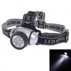 Zhentai 3W 150lm 2-Mode 12-LED White Light Head Lamp - Silver + Black (3 x AAA)