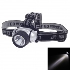 Zhentai 1W 90lm 2-Mode 1-LED White Light Bike Head Lamp - Silver + Black (3 x AAA)