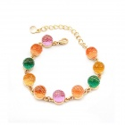 Fashionable Colorful Jelly Style Beads Women's Bracelet - Multicolored
