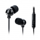 OMASEN Universal 3.5mm Jack Wired In-ear Headset w/ Microphone for Cellphone - Black
