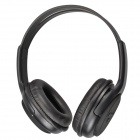 Bat Music 668 Bluetooth V2.0 Wireless Music Headset - Black
