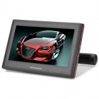 FRS-988 9'' Universal Car Headrest DVD Player w/ FM/IR Transmitter / AV / USB / SD - Black