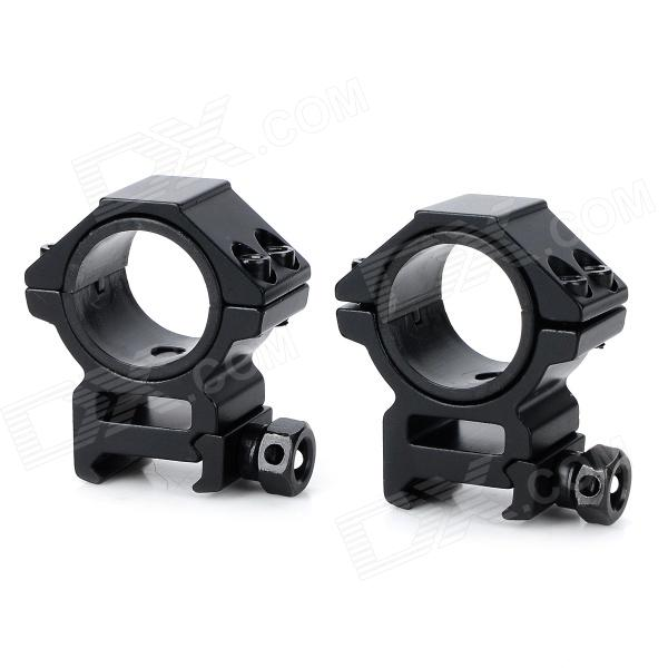 25 / 30mm Aluminum Alloy Gun Rail Mount w/ Hex Wrench - Black (2 PCS) 10pcs m3 aluminum column 6 10 15 25mm 20mm 28mm 30mm 35mm round aluminum alloy pillar standoff spacer fastener anti slip for rc
