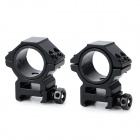 25 / 30mm Aluminum Alloy Gun Rail Mount w/ Hex Wrench - Black (2 PCS)