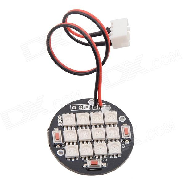 HJ 12 Changing Color LED Night Lights for RC Aircraft with Mucilage Glue and Connecting Sensor FPV