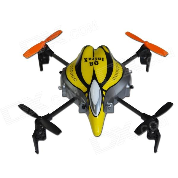 Wakera QR Infra X Mini 4-CH R/C Quadcopter BNF - Yellow + Grey