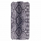 SAYOO Snakeskin Regulus Series Vertical Open Protective PU Leather Case For Iphone 5 / 5s - Black