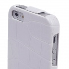 SAYOO Crocodile Striation Vertical Open Protective PU Leather Case Cover for Iphone 5 / 5s - White
