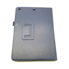 Litchi Pattern 2-fold Protective PU Leather Case Cover Stand For Ipad AIR - Deep Blue