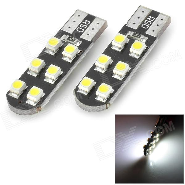 T10 1W 12-1210 SMD LED White Light Clearance Lamp (12V / 2 PCS)
