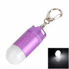 TrustFire L-02Z Missile Head Style LED White Flashlight Keychain - Purple + White (1 x CR123A)