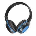 N85S Stereo Bluetooth V2.1 + EDR Headset w/ MMC / SD / TF / Microphone - Black + Blue