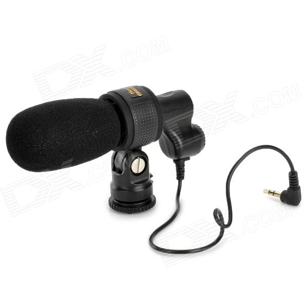 Nonsha Q3 Series Professional Stereo Microphone for Nikon Canon Pentax DSLR / DV Camcorder - Black