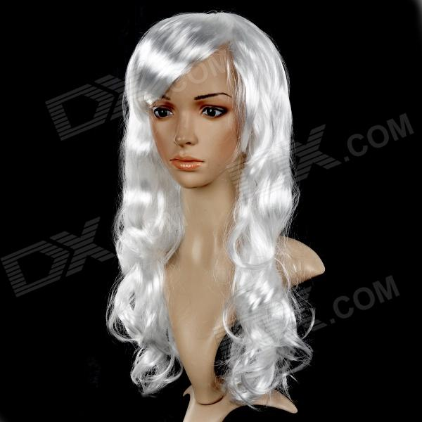 Universal Festival Party Fashion Long Curly Hair Wigs - White 8 colours colorful curly hair party cosplay long wavy wigs