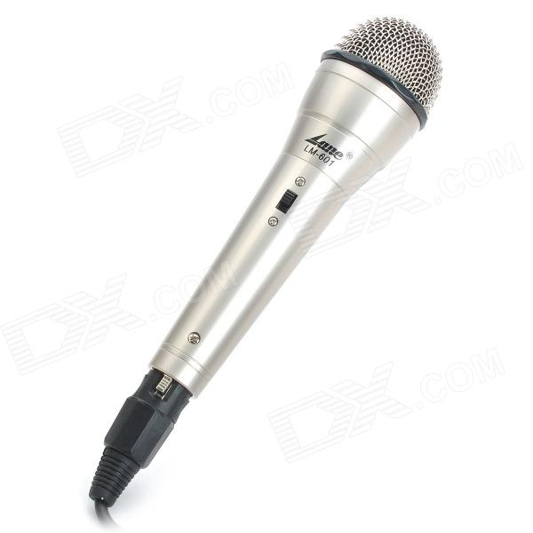 6.35mm lm-601 Wired Moving-coil Microphone - Silver