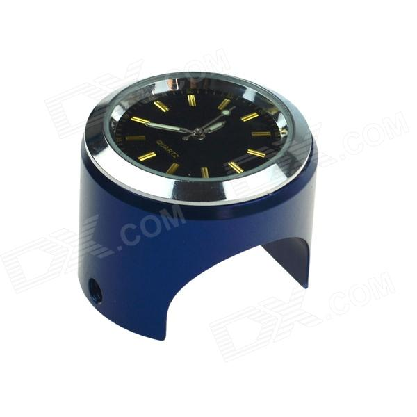 цены Universal Cycling Bicycle Mounted Mini Aluminium Alloy Clock Watch - Black + Blue + Silver