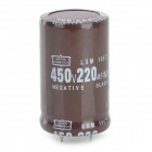 220UF/450V Electrolytic Capacitors - Coffee