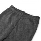 Woman's Fashionable Warm Lint Lining Thick Leggings w/ Cat Knee Detail - Grey