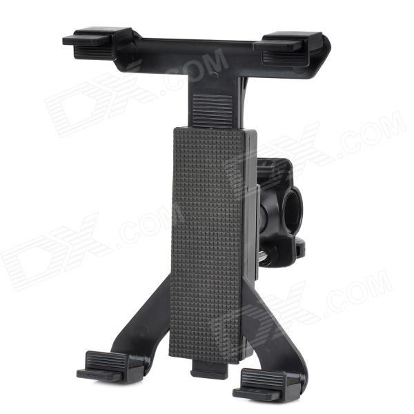 Microphone Stand Tablet Mount w/ 360 Degree Swivel Adjustment Holder for Ipad - Black