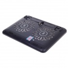 "SHUNZHAN USB 2.0 di raffreddamento pad di raffreddamento 2-Fan per 14""~ 15"" notebook / laptop - nero"