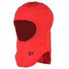 QF B11137 Outdoor Sports Cycling Warm Fleece Mask Helmet Cap for Women - Red (Free Size)