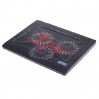 "SHUNZHAN USB 2.0 Cooling Pad 3-Fan Cooler for 15"" Notebook / Laptop - Black"