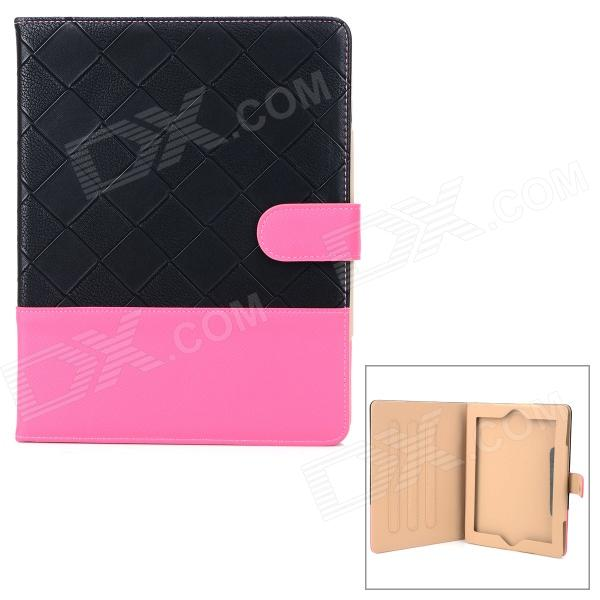 Protective Flip Open PU Case w/ Stand for Ipad 2 / 3 / 4 - Black + Deep Pink рюкзак case logic 17 3 prevailer black prev217blk mid