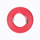 ULT-unite 8801-1108 HDMI V1.4 Male to Male Digital Audio / Video Flat Cable - Red (15m)