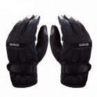 AllFond Thickening Anti-slip Cycling Skiing Full-Finger Glove - Black (Pair)