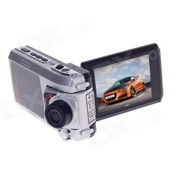 HD-189 2.5 TFT 12.0 MP CMOS 4X Digital Zoom Video Camcorder - Silver 5 0mp digital video camcorder w 4x digital zoom motion detection hdmi sd slot 2 5 tft lcd