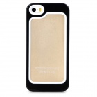S-What Protective Silicone + PC Bumper Case for Iphone 5 / 5s - Black + White