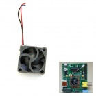 F17HA High Quality Specified DC Brushless Fan for Raspberry PI - Black + Silver White (5V)