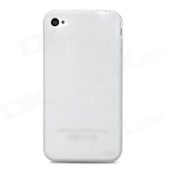 S-What Protective Glow-in-the-Dark Back Case for Iphone 4/4S - Grey + White what s the point in discussion