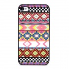 Relief Tribal Ethnic Style Protective Plastic Back Case for Iphone 4 / 4s - Multicolor