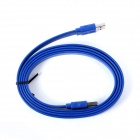 ULT-unite ULT-0433 USB 3.0 Male to Male Flat Connection Data Cable - Deep Blue (60cm)