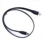 ULT-0411 USB 3.0 Male to Female Flat Data Extension Cable - Black (60cm)