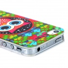Stylish Owl Style Protective PC Back Case for Iphone 4 / 4s - Multicolor