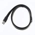 ULT-0417 USB 3.0 A Male to Micro-B Male Flat Mobile Hard Disk Data Connection Cable - Black (60cm)