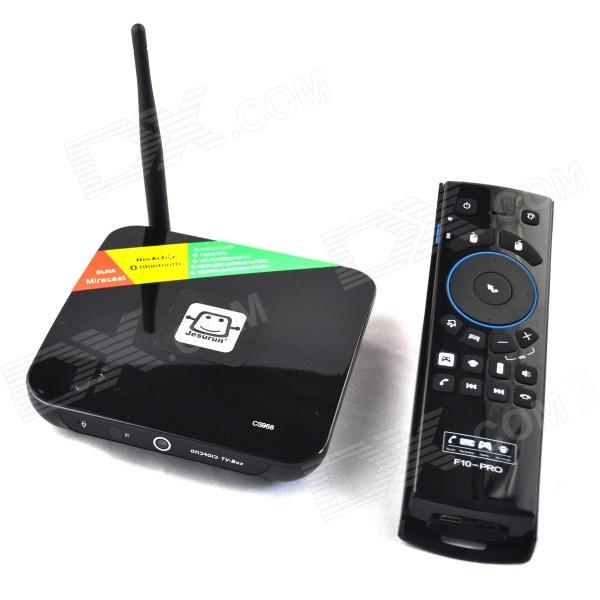 цены Jesurun CS968 Quad-Core Android 4.2.2 TV Player w/ 2GB RAM, 8GM ROM, 2MP CAM, + F10 pro Air Mouse