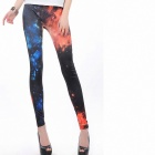 Mysterious Cosmic Leggings - Black + Blue (Free Size)