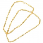 Gilding Daisy Patterns Lucky Ball Necklace - Golden (2 Pieces)