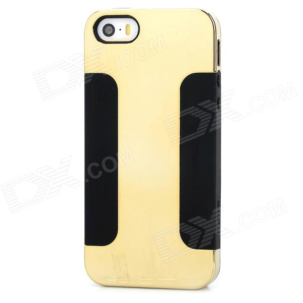 Stylish Protective ABS + Silicone Back Case for Iphone 5S - Golden + Black stylish protective silicone back case for iphone 5 black
