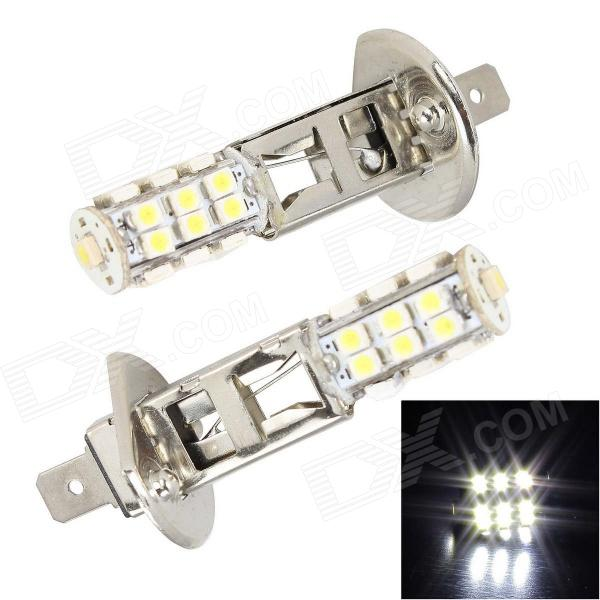 Merdia H1 5W 400lm 25 x SMD 3528 LED White Light Car Headlamp / Foglight - (12V / 2 PCS) h1 4w 220lm 68 smd 1210 led warm white light car foglight headlamp tail light 12v