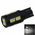 T10 / 194 / W5W 2W 180lm 10 x SMD 5630 LED White Car Clearance lamp / Side Light - (9~18V)